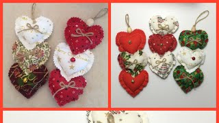 Fabric Heart / Christmas Heart Decor