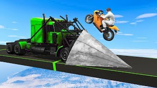 RAMP TRUCK vs. BIKES ( GTA 5 Funny Moments )