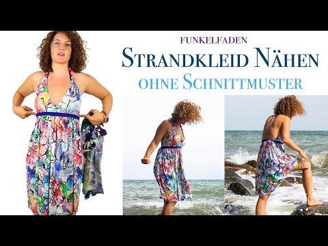 Strandkleid Funkelfaden nähen - Nähanleitung für ein einfaches Kleid aus Jersey