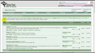 How to signup to Digitalpoints Forum