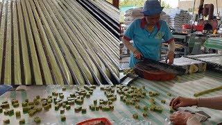 Cận cảnh quy trình quy trình cắt kẹo dừa Bến Tre cực đỉnh
