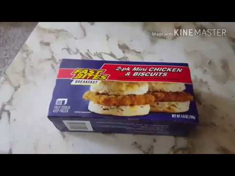 Fast Bites chicken biscuits Food review frozen food review.