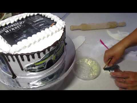 Как украсить торт для полицейского