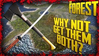 How to get the Modern Axe & Katana within 4 Minutes of each other | The Forest Tutorial