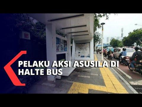 Pelaku Aksi Asusila di Halte Bus Ditangkap