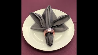 Napkin Fold With A Ring
