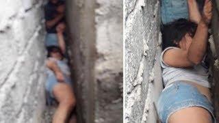 Wanita Ini Tak Sengaja Terjepit di Celah Bangunan, Butuh 6 Jam untuk Mengeluarkannya