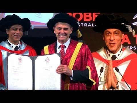Shah Rukh Khan Speech On Receiving Doctorate Degre