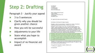 How to write an SAP Financial Appeal Letter