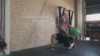 Kneeling Parallel Rotational Throw Tutorial - Medizinball Training   HEARTCORE Athletics