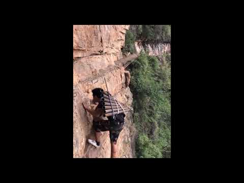 The Chinese Village Living Life on the Edge of a Cliff