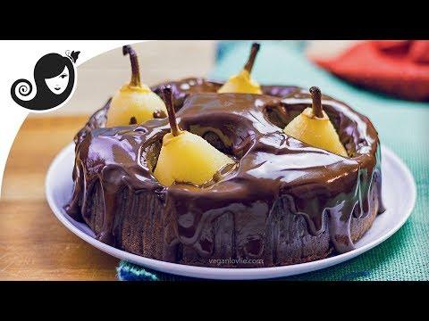 Pear Chocolate Cake in a Pressure Cooker [baking option]   Vegan/Vegetarian recipes