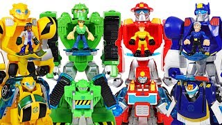 Giant Dinosaurs attack Paw Patrol! Transformers Rescue Bots mech armor suit! Go! - DuDuPopTOY
