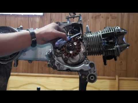 Remove the AC Magneto from Zuma , Bws, Cygnus 125 Scooter Motor