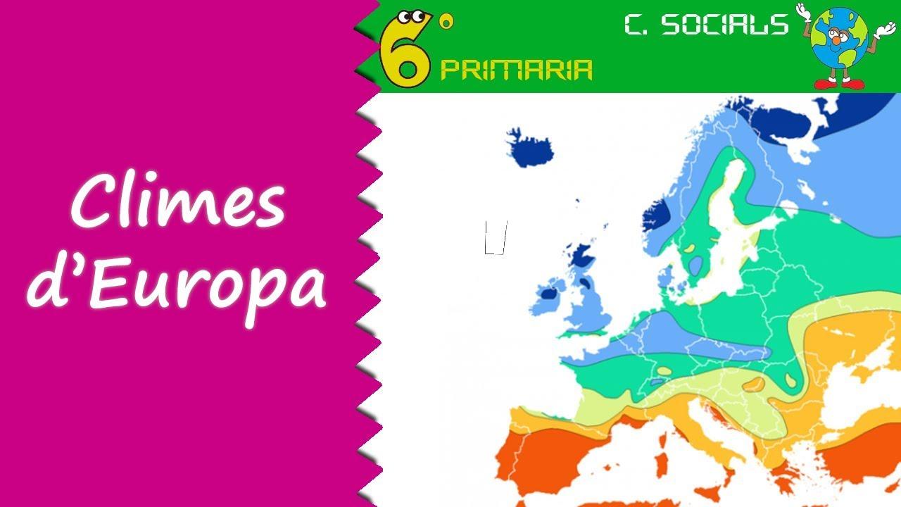 Climes d'Europa. Socials, 6é Primària