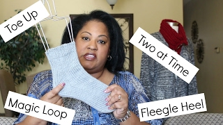 How to Knit Toe Up Socks Two at a Time with Fleegle Heel