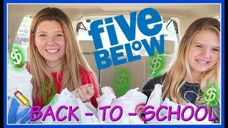 NO BUDGET CHALLENGE AT FIVE BELOW || BACK TO SCHOOL || Taylor and Vanessa