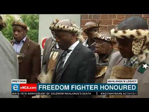 Solomon Mahlangu honoured