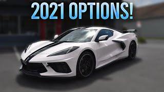NEW 2021 CORVETTE C8 OPTIONS REVEALED! (New Paint & Interior)