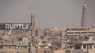Iraq: Smoke rises over Mosul