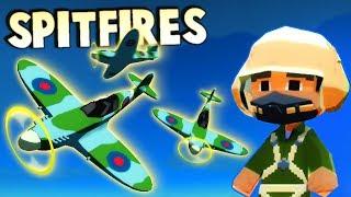Bomber Crew SPITFIRE Fighter Support vs ACE PILOT! (Bomber Crew Gameplay WW2 Bomber Plane FTL Game!)