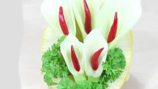Украшение блюд  Карвинг из овощей для начинающих