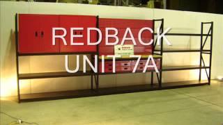 REDBACK STORAGE SYSTEMS Workbenches,garage Workshop Bench,steel Cabinets,garage Storage Solutions,
