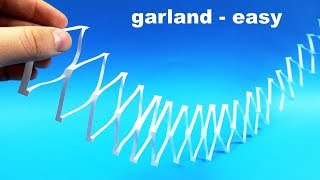 How to make simple paper GARLAND
