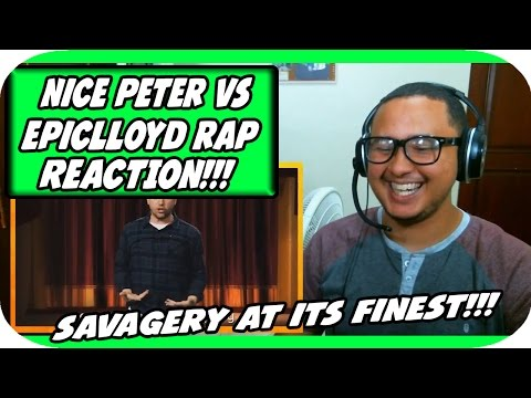 Nice Peter vs EpicLLOYD - Epic Rap Battles of History Season Finale. REACTION!!!