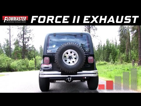 1997-99 Jeep Wrangler TJ 2.5L, 4.0L - Force II Cat-back Stainless Steel Exhaust System 817493