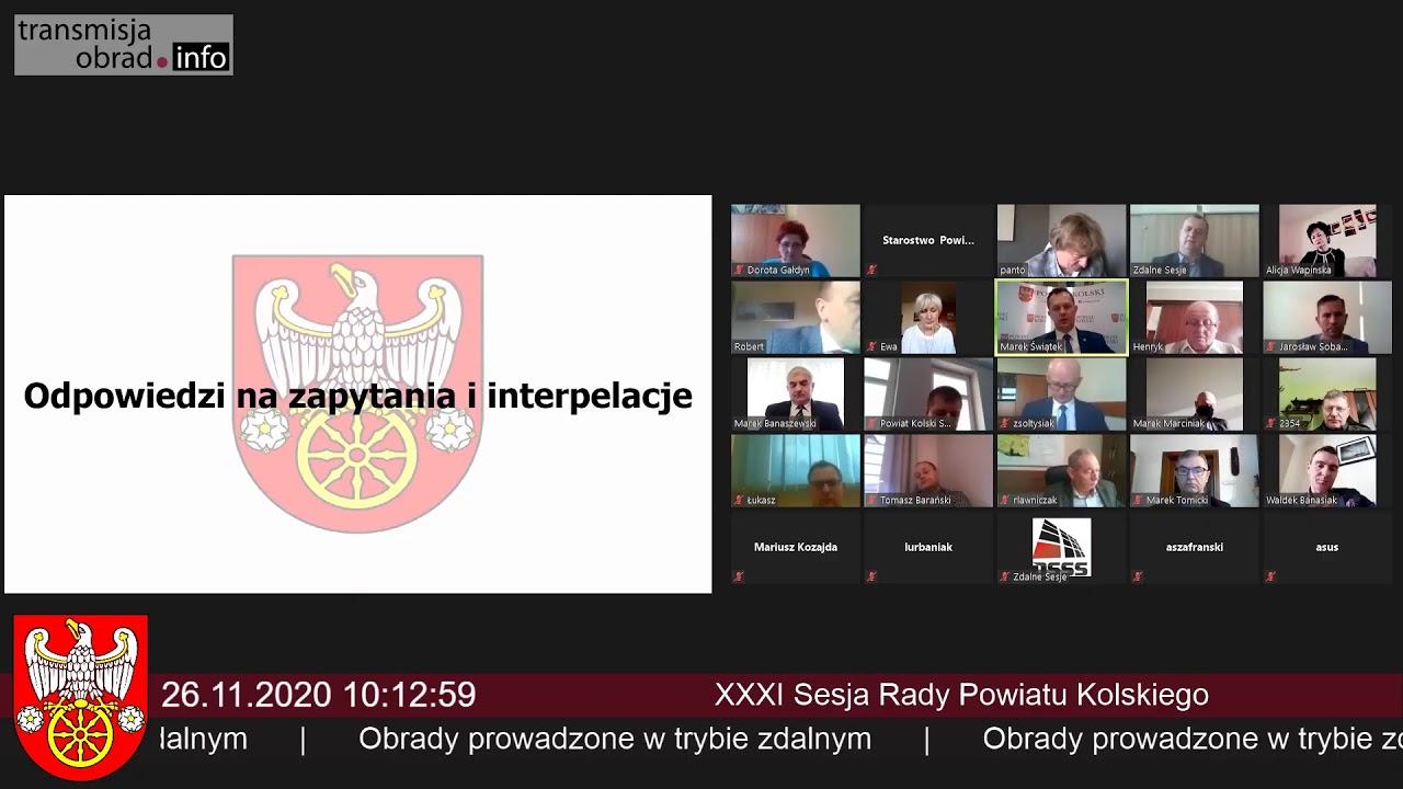 Zdjęcie do XXXII sesja Rady Powiatu Kolskiego