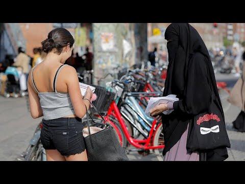 Δανία: Διαμαρτυρία για την απαγόρευση της μπούρκας