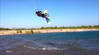 preview picture of video 'Kitesurfen am Zwenkauer See Oktober 2013'