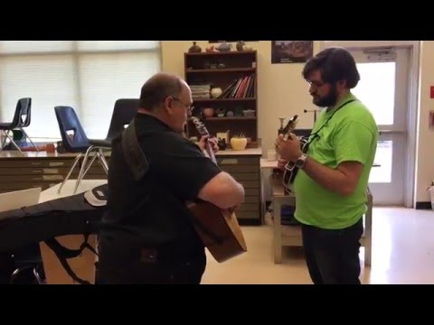 Jamming a little with Skip Taylor on Guitar and myself on Mandolin