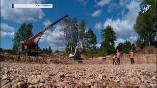 В Окуловке идет строительство нового детского сада