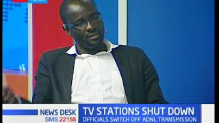 Newsdesk Interview: TV Stations shut down by CA part 1