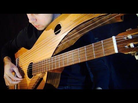 , title : 'Harry Potter (Hedwig's) Theme - 18 String Harp Guitar - Jamie Dupuis'
