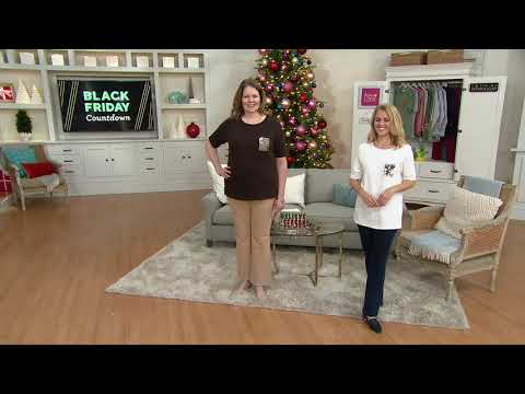 Quacker Factory Set of Two T-Shirts with Sequin Flip Mini Pocket on QVC