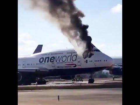 العرب اليوم - شاهد: اندلاع حريق في طائرة تابعة إلى الخطوط البريطانية في إسبانيا