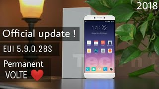 ☑ Get Eui 5.9.028s with Permanent VOLTE | Official Update | Letv Le 1s/eco| Improved Ui | App drawer