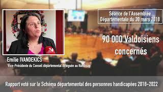 Vote du Schéma départemental des personnes handicapées 2018-2022 en séance publique