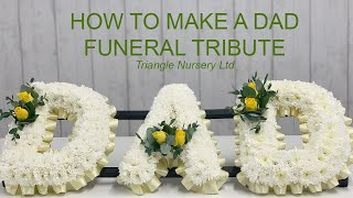 How to Make a DAD funeral tribute with Yellow Rose Spray with Eucalyptus