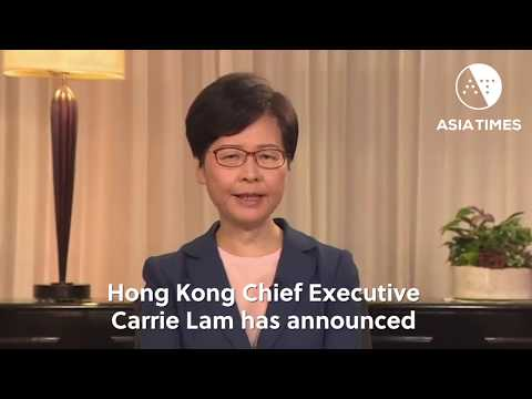 HK leader withdraws hated extradition bill