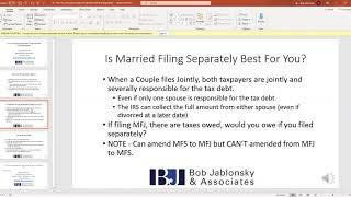 Why Married Taxpayers Might Want to Consider Filing Married Filing Separately (MFS)