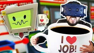 I'M A GIANT | Job Simulator w/mods (HTC Vive Virtual Reality)