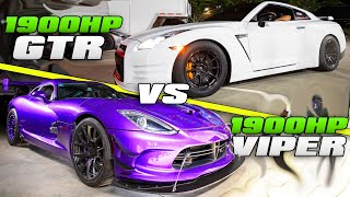 SUPERCAR STREET RACING! | Twin Turbo Viper & GTR's by 1320Video