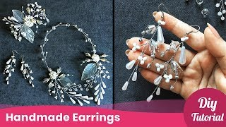 DIY Idea For Girls. Simple Earrings Tutorial. Jewelry Making