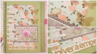 Smash Book Terapia: 10.09.13 *Cómo hacer un diario de Scrap* Smash book tutorial
