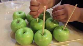 Caramel + Chocolate Dipped Apples