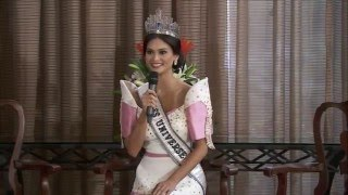 Press Conference of Miss Universe 2015 Pia Wurtzbach